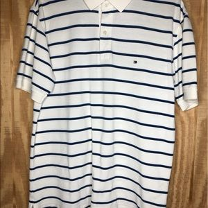 Tommy Hilfiger large polo white/blue